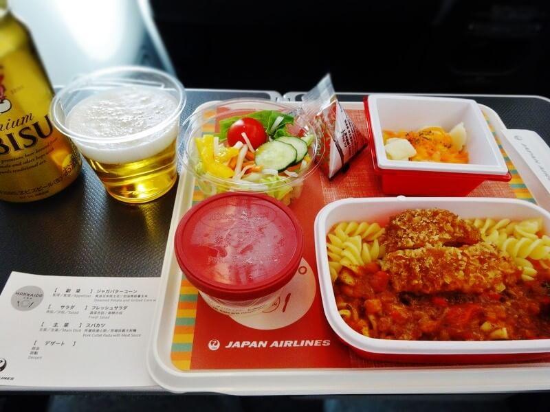 成田-上海-機内食