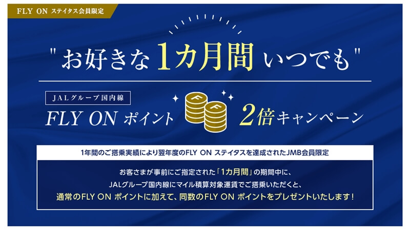 FLYON2倍キャンペーン