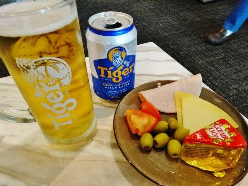 食事とビール