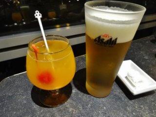 ウエルカムドリンクとビール