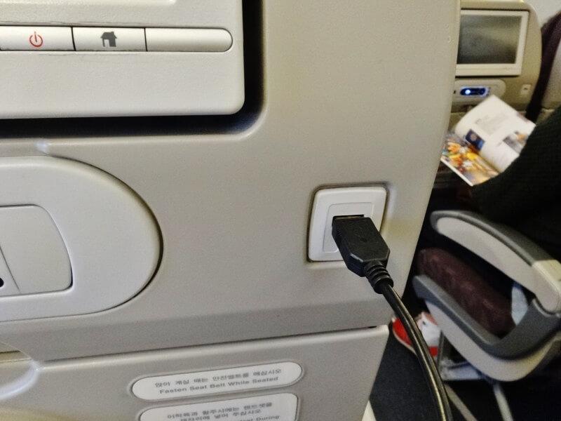 大韓航空‐USBポート