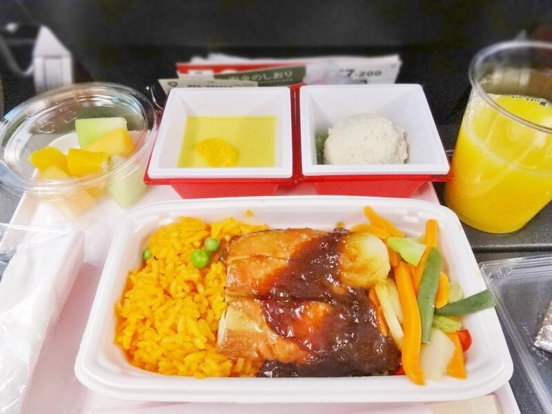 JAL942便‐機内食
