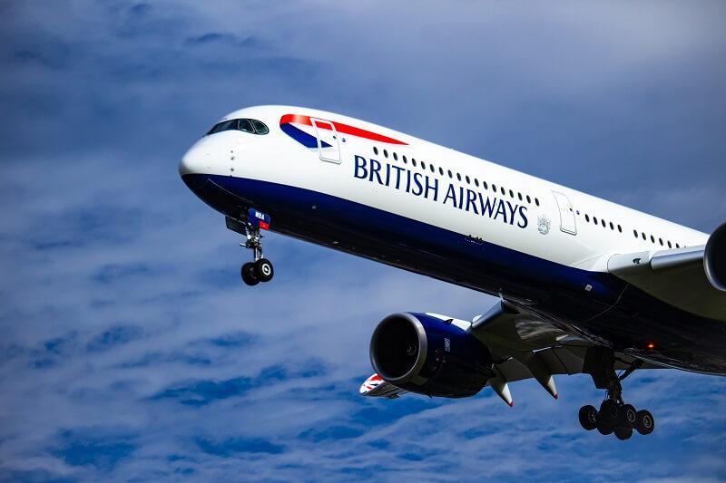 britishairwaysの飛行機